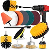 Drill Brush Attachment Set - Power Scrubber with Additional Steel Wire and conical Brushes for Cars, Grill, Floor, Grout, Tiles, Sinks, Bathtub, Bathroom, KitchenDerusting