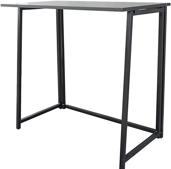 MuLuo Collapsible Computer Desk Folding Writing Table Black Portable Office Laptop Wood Workstation
