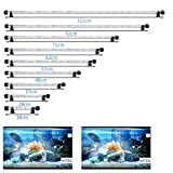 MLJ LED Aquarium Lighting for Fish Tank, Waterproof Amphibious Light White & Blue/RGB, 9 Sizes (112cm, White&Blue)