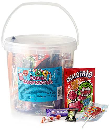 Juan Lopez, Cubo Cumpleaños - Surtido para fiesta, Pack de 1 x 1350 gr.
