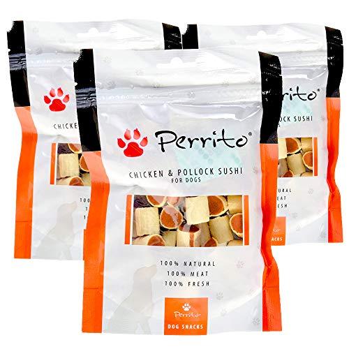 Rc Ocio Snacks per Cani/Biscotti per Cani | Pack 3 Buste | Snacks per cani senza cereali, qualità massima e naturali. Biscotti per cani di Pollo e Merluzzo. Premi per cani senza cereali naturali