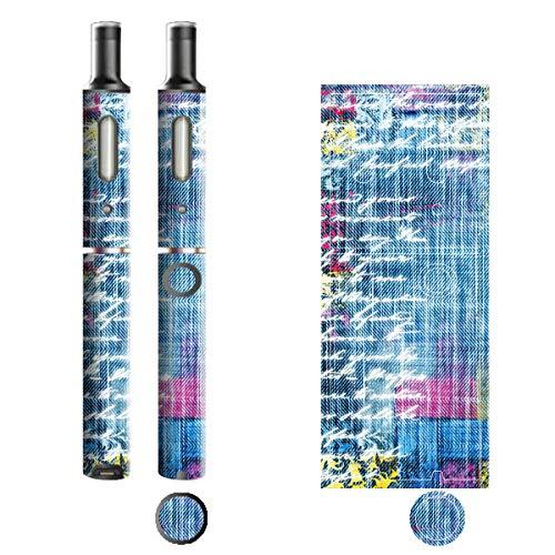 電子たばこ タバコ 煙草 喫煙具 専用スキンシール 対応機種 プルームテックプラスシール Ploom Tech Plus シール Jeans デニム モチーフコレクション 12 パステルレター 21-pt08-2240
