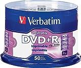 Verbatim Life Series DVD+R Printable Disc Spindle, Pack of 50 98492