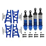 4Pcs Aluminum Front&Rear Shock Absorber Suspension A Arms 3655 5862 for RC Traxxas 1/10 4x4 4WD Slash Rustler Stampede