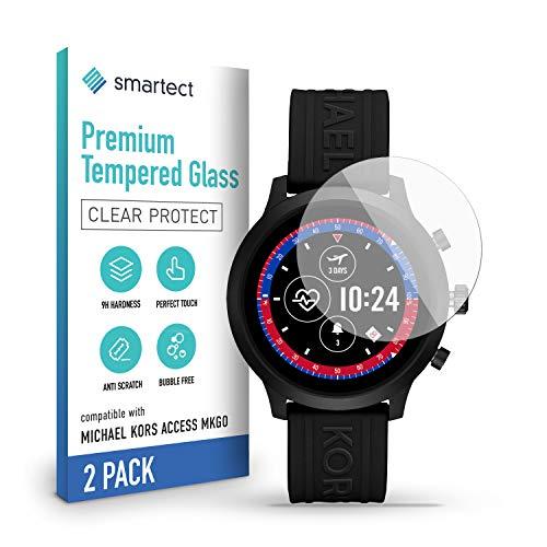 smartect Cristal Templado para Móvil Michael Kors Access MKGO (MKT5073) [2 Unidades] - Protector de pantalla 9H - Diseño ultrafino - Instalación sin burbujas - Anti-huella
