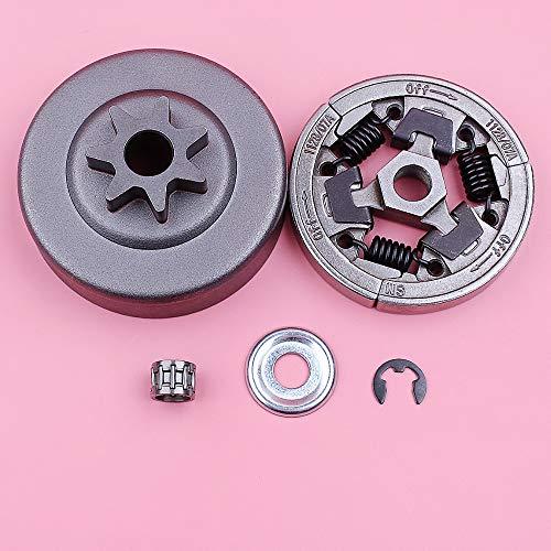 SYCEZHIJIA 3/8 7 Dientes Tambor de Embrague rodamiento de Agujas arandela E-Clip Kit para Stihl 036 MS360 MS 360 Repuesto de Motosierra