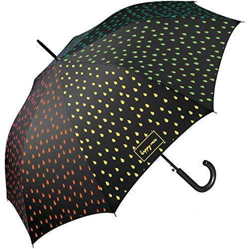 Happy Rain Long AC waterreactive Automatik Regenschirm Umbrella Schirm 41100 Farbwechsel bei Nässe