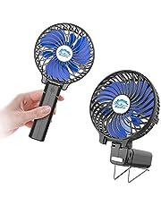 HandFan Handventilator Elektrische ventilator Bureau USB draagbare ventilator 3 snelheidsaanpassing Wind Handventilatoren Vouwen Batterij-aangedreven voor buiten/reizen/kamperen