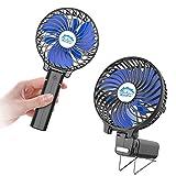 HandFan Mini Ventilateur à Main, Ventilateur Portable Rechargeable électrique Ventilateurs de Table avec Batterie Rechargeable