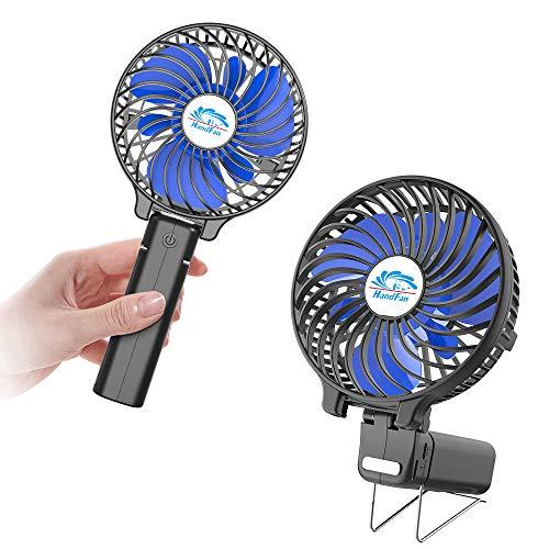 〔期間限定優待価格〕HandFan 手持ち扇風機/卓上扇風機 変更を折ります 最大11時間動作 3200RPMの最大速度 ...