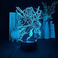 アクリル3D LEDナイトライトアニメキメットヤイバフィギュアライト子供子供誕生日ギフトデモンスレイヤーベッドルーム装飾多色変更テーブルランプアッカーマンのためのキッドベッドルーム装飾子供の誕生日ギフトマンガナイトライトテーブル照明-接する