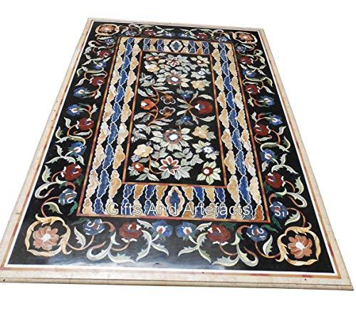 Gifts And Artefakts 121,9 x 243,8 cm Marmor Konferenztisch Tischplatte Büro mit Pietra Dura Art Home Assents