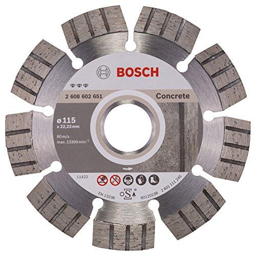 Bosch 2608602651 Disque à tronçonner diamanté best for concrete 115 x 22,23 x 2,2 x 12 mm