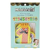 ノルコーポレーション メモリコ memorico ムービングeye ナンバーステッカー 10pcsセット