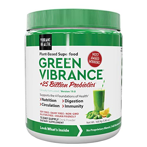 Vibrant Health, Green Vibrance, Vegan Superfood Powder, 15 Servings