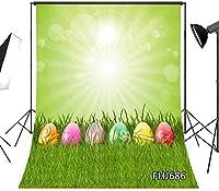 写真撮影のためのHDイースターの背景7x10ft春色の卵緑の草子供のための写真の背景子供赤ちゃん大人の肖像画ビニールカスタマイズされたスタジオの小道具FHJ686