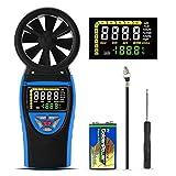 HoldPeak HP-8805 Anemometro Digitale Portatile, Misuratore di velocità del Vento per la Misurazione della velocità del Vento, Temperatura, Wind Chill/Massimo/Minimo, Batterie Alcaline da 9V