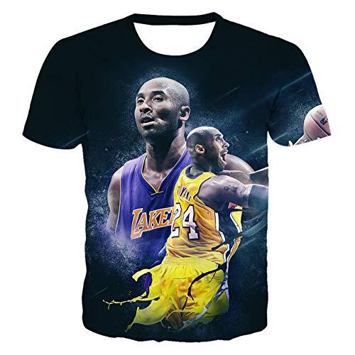 Herren Trikot Lakers Kobe 1996-2016 Retired Gedenk T-Shirt Kobe 24 Basketball Kurzarm Trikots (Size : S-6XL),C,6XL