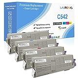 4 Colores Cartuchos de tóner Compatible C532 C542 MC563 MC573 Alta Capacidad 7000 Páginas para Negro & 6000 Páginas para CMY para Impresoras Láser Oki Okidata C532dn C542dn MC563dn MC573dn