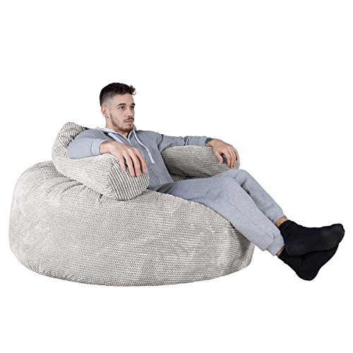 Lounge Pug®, 'Mammoth' Sofa Sitzsack XXL, Riesen Sessle, Pom-Pom Creme - 5