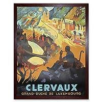 Travel Clervaux Grand Duche Luxembourg Belgium Art Print Framed Poster Wall Decor 12X16 Inch 旅行大ルクセンブルクベルギーポスター壁デコ