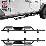 Running Boards Nerf Bars Side Steps Compatible with 2020 2021 Jeep Gladiator JT Pickup 4-Door