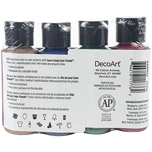 Deco Art Americana Multi-Surface Satin Color Trends Value Pack 4/Pkg-Luxe Living