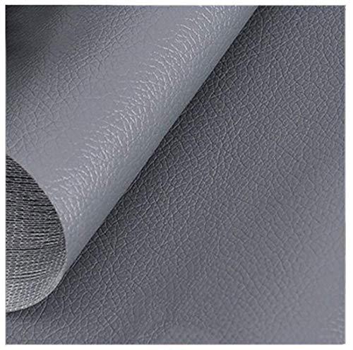 YANGUANG Kunstleder Leder Lederimitat Leatherette Polsterstoff Auf den Zähler - Kunstleder - for Möbel, Sofa, Stühle, Taschen, 1,38 × 1 M (4.5ft X 3.3ft) (Color : Gray)