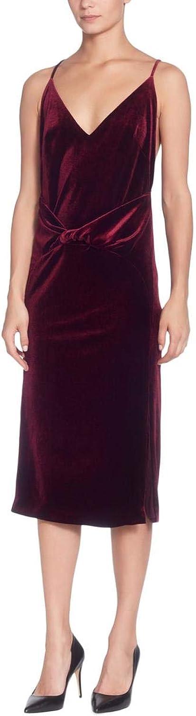 Catherine Malandrino Womens Velvet Racerback Slip Dress