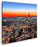 verschneites Bern in der Schweiz Format: 60x60 Effekt:
