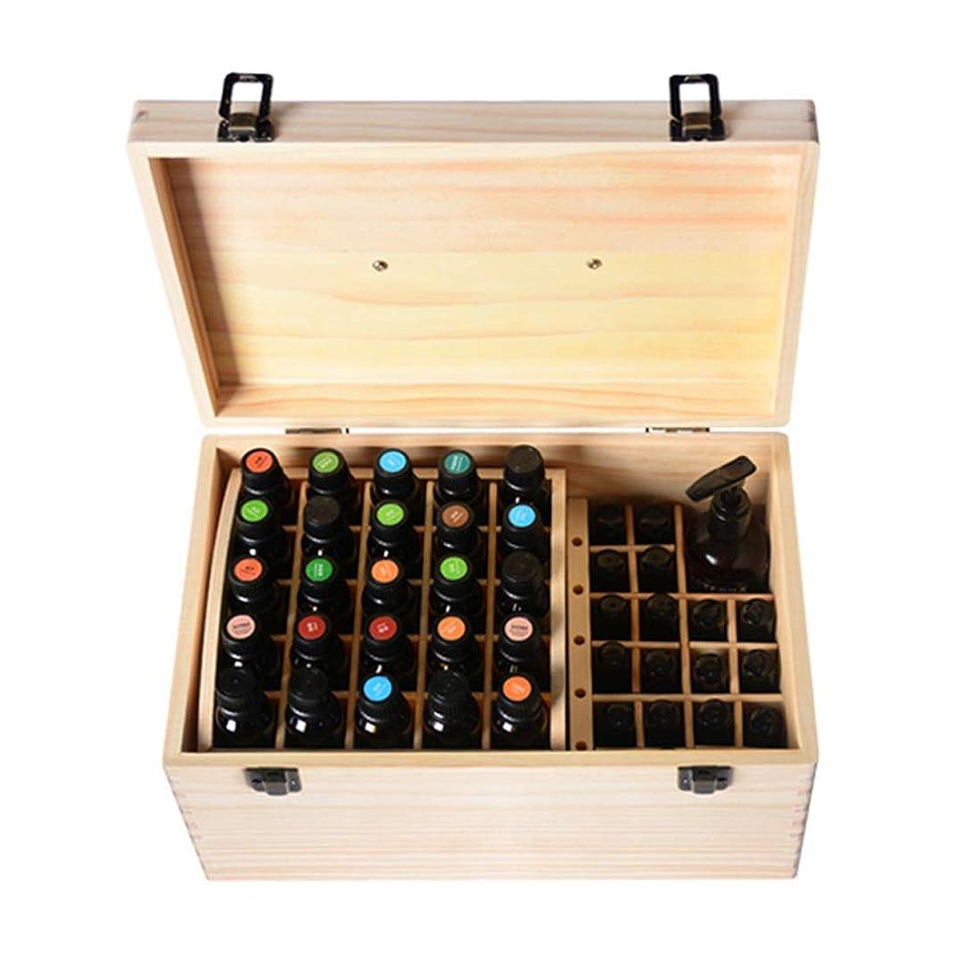悪のコークスフォルダエッセンシャルオイルストレージボックス 74スロット木エッセンシャルオイルボックス収納ケース内部のリムーバブルは15/10 M1のボトルナチュラルパインを開催します 旅行およびプレゼンテーション用 (色 : Natural, サイズ : 35X20X16.5CM)
