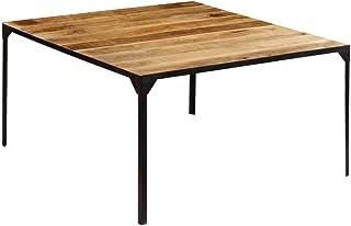 vidaXL Bois de Manguier Massif Table de Salle à Manger 140x140x76 cm Cuisine
