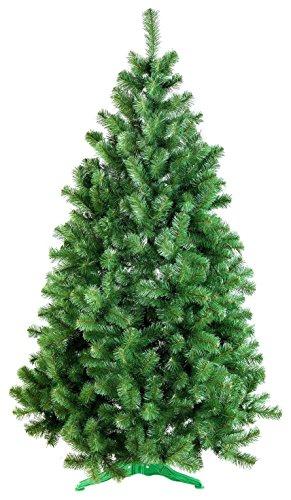 DecoKing Albero di Natale Artificiale Abete di Decorazione Base Plastica Festa di Natale Verde Lena