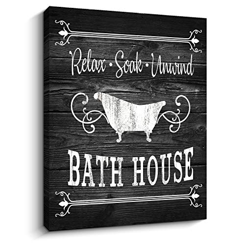 Bathroom Rules Sign Vintage Canvas Prints Bath Signs Wall Art Decor Rustic Laundry Room Decor For Bathroom Apartment 12 X 16 Bath Black Wantitall