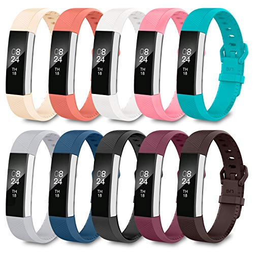 LEEFOX Compatible with Fitbit Alta HR and Alta Bands, Classic Accessory Band for Fit bit Alta HR/Ace and Alta Wristband Watch Buckle Replacement Strap for Fitbit Alta/Alta HR, Large Small Men Women