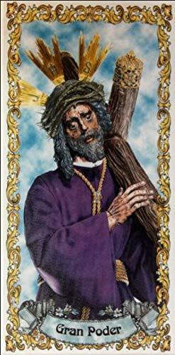 Jesús del Gran Poder. Azulejo fabricado artesanalmente para decorar. Cerámica para colgar. Calca cerámica. TORO DEL ORO (14x28 cms)