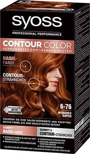 SYOSS Contour Color Stufe 3 6-76 Intensives Kupfer, permanentes Zwei-Farben-System, 1er Pack (1 x 183 ml)