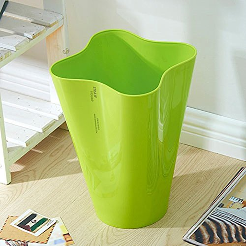 WEBO HOME- Poubelles plus épaisses -Poubelle (Couleur : Vert)
