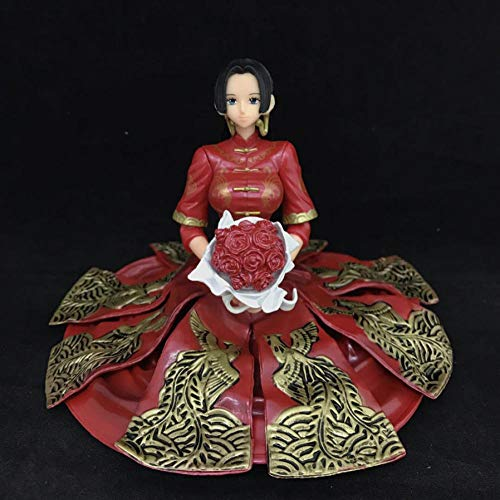 One Piece Boa Hancock Kimono Wedding PVC Action Figure One Piece Anime Collectible Model Toys Luffy Wife 10cm