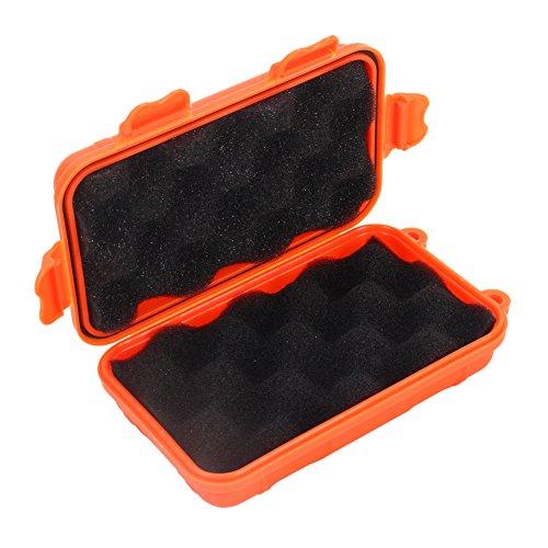 Dilwe Caja de Almacenamiento de Supervivencia de Plástico Caja de Contenedor a Prueba de Golpes para Actividades al Aire Libre (Naranja S)