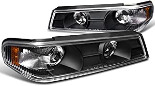 Spec-D Tuning 2LC-COL04JM-TM Chvey Colorado GMC Canyon Black Front Corner Parking Lights Pair