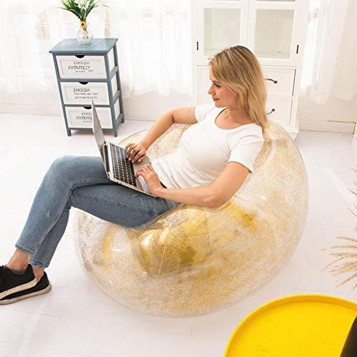 colinsa Silla Inflable Transparente del sofá - Sofá Inflable Plegable de la Silla del Adulto de la