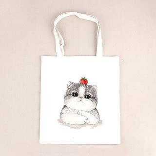 Gimax Shoulder Bags - Casual Canvas Tote Handbag Women Cartoon Cute Cat Printed Shoulder Bag Female Summer Beach Bag Shoulder Bag Lady BB375