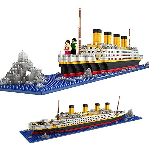 dOvOb Micro Mini Block Titanic Model Building Set, Intellective Building Bricks,3D Puzzle DIY Educational Toy, Gift for Adults and Children(1872 pcs)