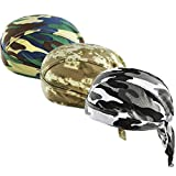 XYIYI Camo Sweat Beanie Cycling Bandana Cap Hat Skull Cap Sports Sweatband Headwrap