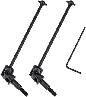 CVD Universal Drive Shafts (Updated) for 1/10 HSP Model Car Parts 108015 Total Length 114mm, Dogbone Length 89.5mm (Black)