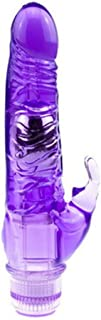 LZE 女性用 マスターベーション装置 振動ロッド ローズレッド パープル 指バイブ 弾丸マッサージャー 潮吹き名物  (パープル)