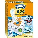 Swirl R 29 MicroPor Plus Staubsaugerbeutel für Rowenta, Moulinex, Tefal Staubsauger, Anti-Allergen-Filter, 4 Stück inkl. Filter