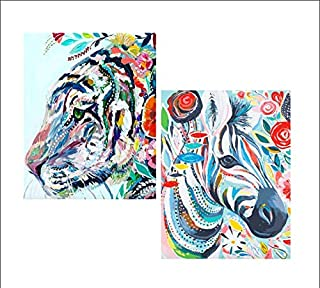 Måla | 2 Pack Premium Animal Paint by Numbers for Adults | Rolled Canvas (No Creases) | 16 x 20 Inch | Acrylic Paint by Nu...