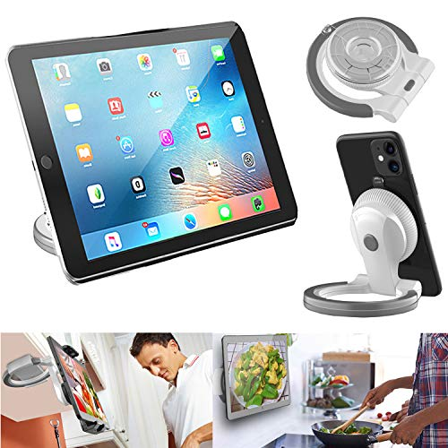 2 in-1 Kictchen Tablet Stand wall mount under cabinet ipad Kitchen mount Universal holder stand for 5' to 11' iPad/Tablet/Phone/Surface Pro